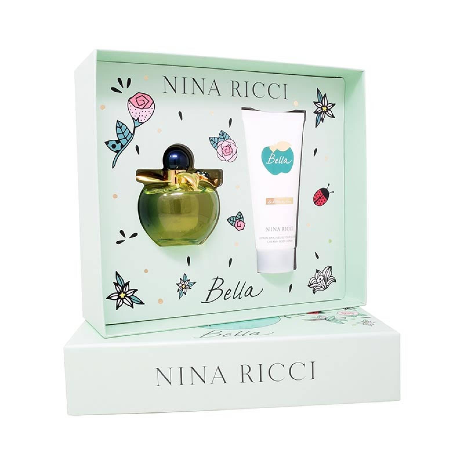 Set Nina Ricci Bella 2Pzs 80 ml Edt Spray + Body Lotion 100 ml de Nina Ricci