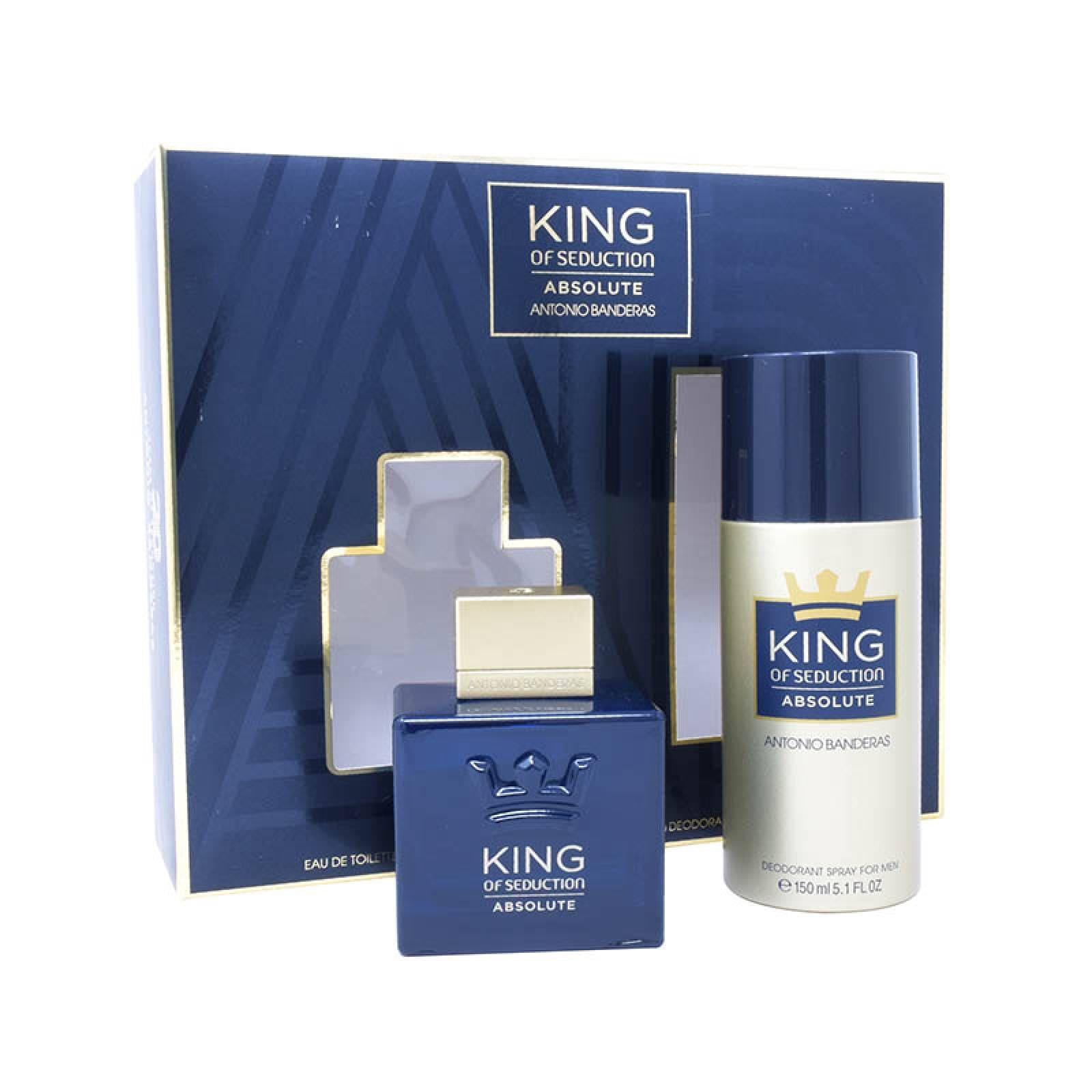 Set King Of Seduction Absolute 2Pzs 100ml Edt Spray  + Desodorante 150ml Spray de Antonio Banderas