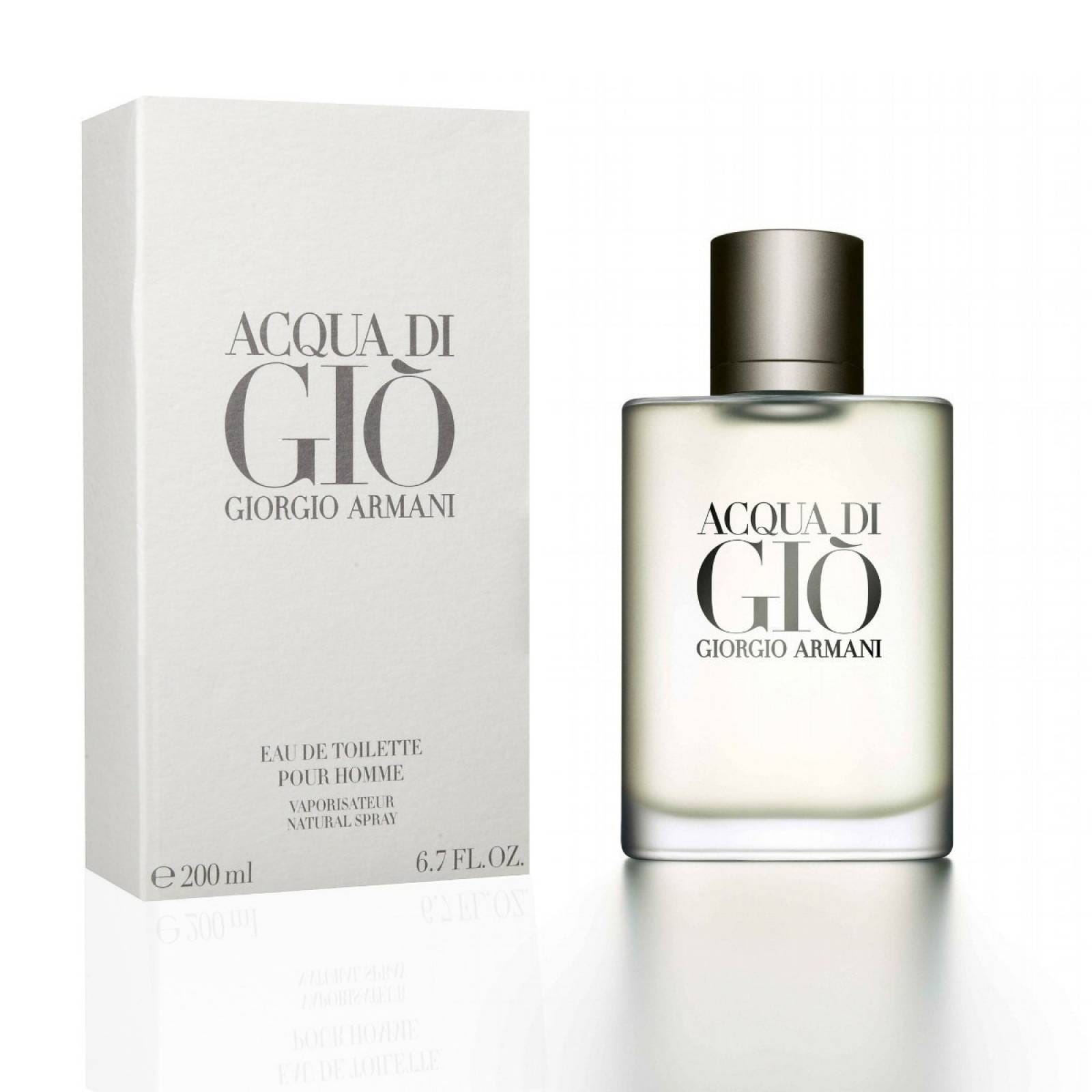 Acqua Di Gio Homme de Giorgio Armani Eau de Toilette 200 ml. Fragancia para Caballero