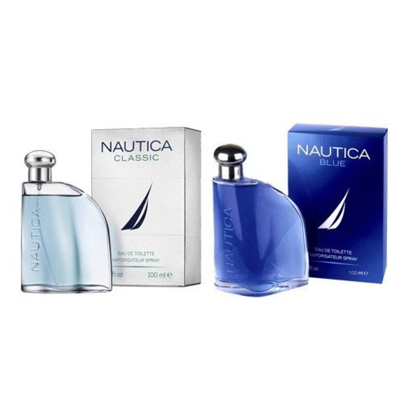 Paquete 2X1 Nautica Blue Y Classic 100 de Nautica Fragancia para Caballero