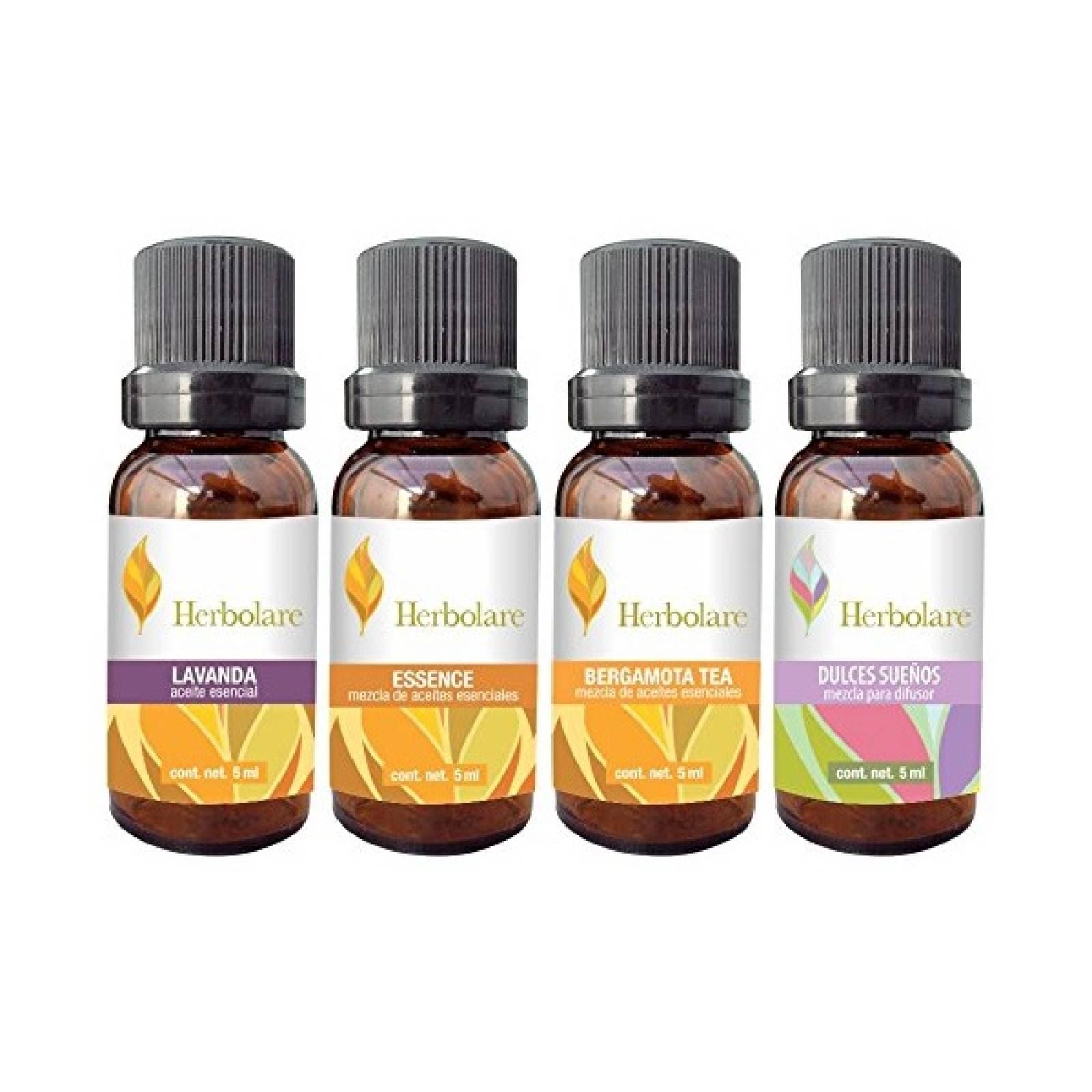 Paquete 4 Aceites Esenciales 5ml Aromaterapia Herbolare