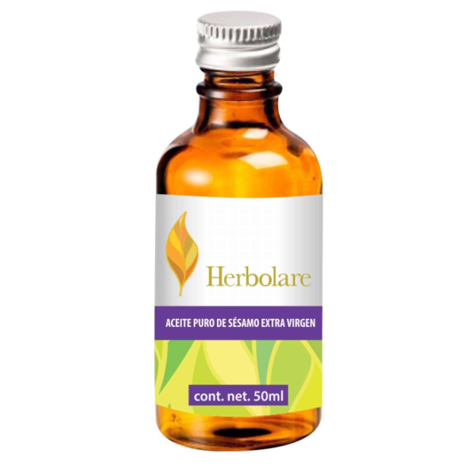 Aceite Puro Sésamo Extra Virgen 50ml Antioxidante Herbolare