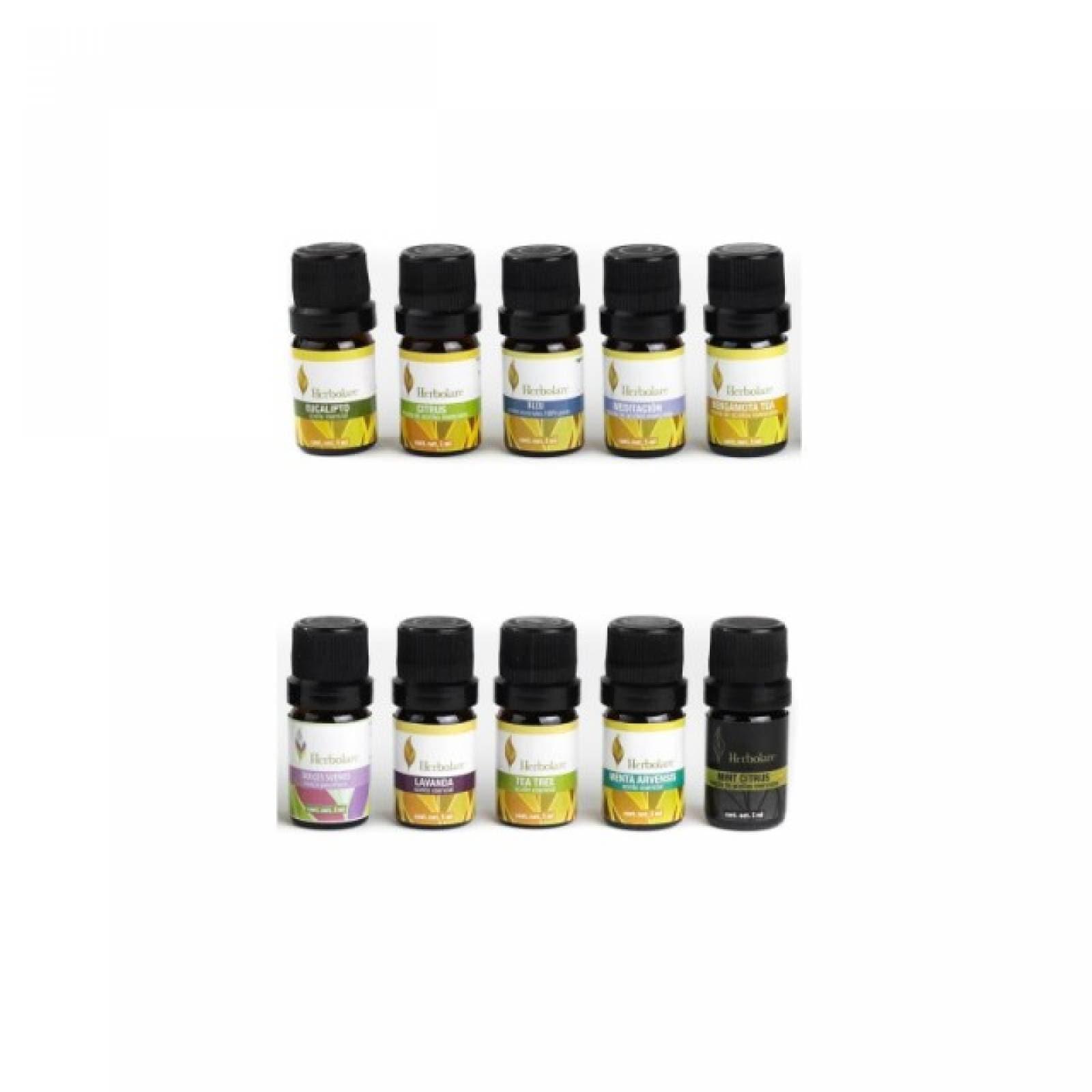 Kit 10 Aceites Escenciales 5ml Aromaterapia Herbolare