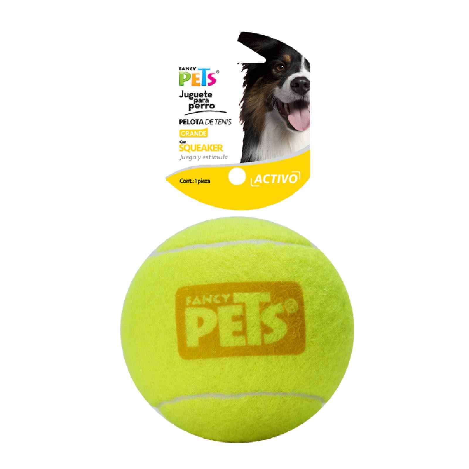 Pelota Grande Tenis Sonido Squeaker Juguete Perro Fancy Pets