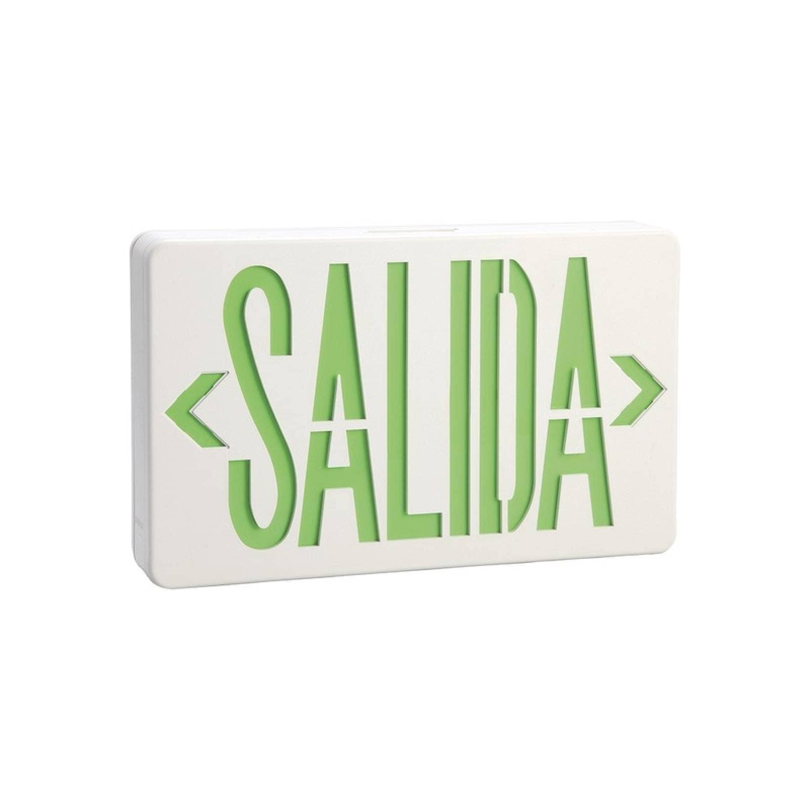 Letrero LED SALIDA Universal Alto Brillo c/ Batería Respaldo