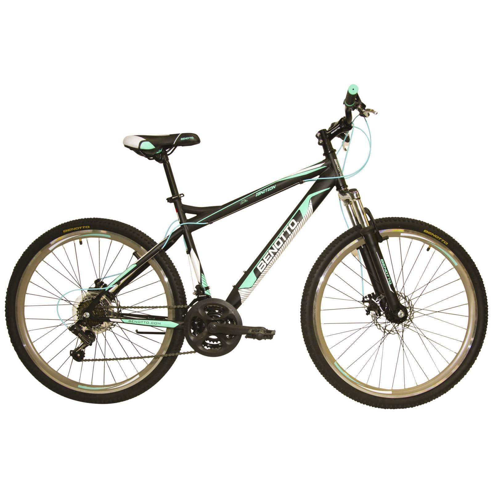 Bicicleta Benotto Ignition MTB Acero R27.5 21V Hombre Ngro