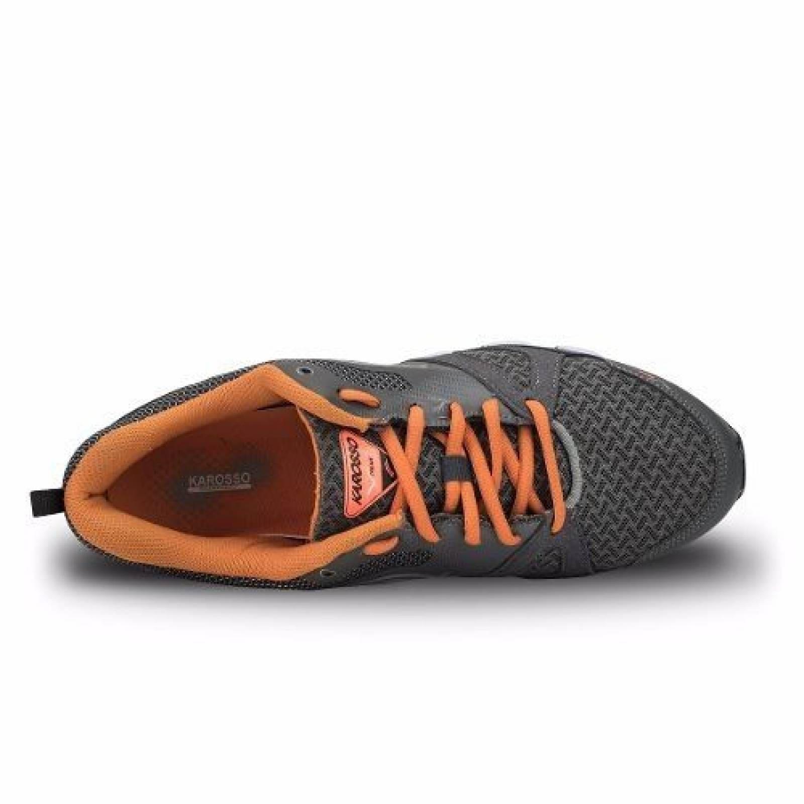 Tenis Para Correr Karosso 6311 Gris Naranja
