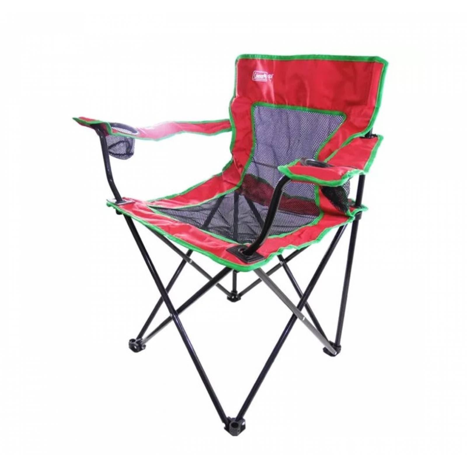 silla-roja-quad-con-descansabrazos-portavasos-roja-coleman