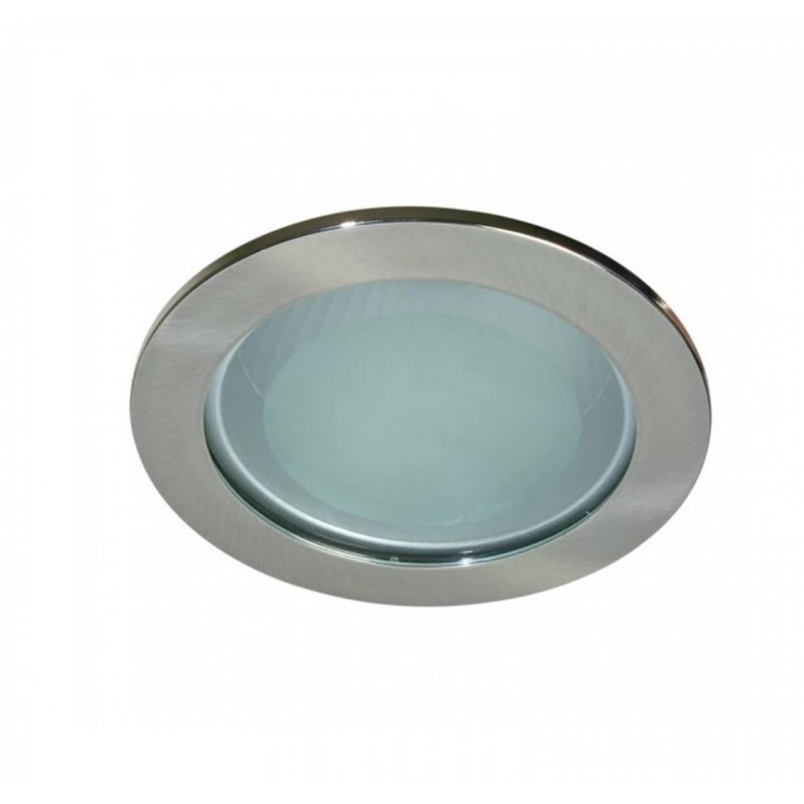 Lampara De Techo Empotrado Grande Con Cristal E27 Gris Calux