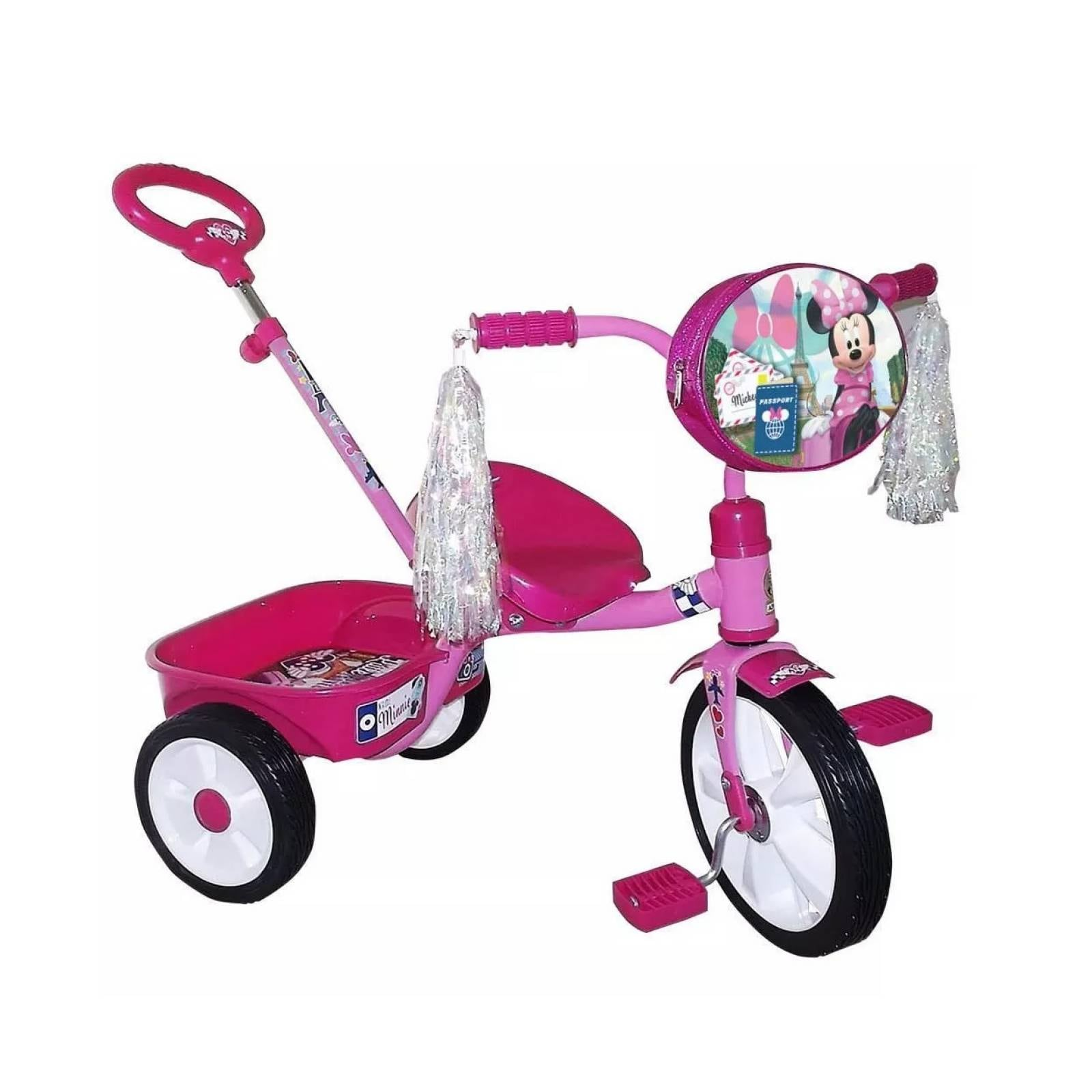 Triciclo con barra de empuje apache minnie r12 nina apache