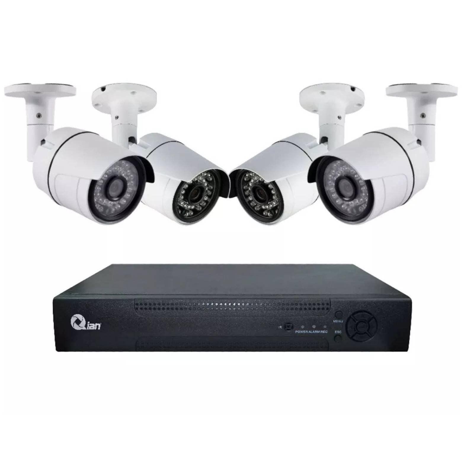 Kit De Vigilancia Qian 4 Canales+4 Camaras 55-531 Qkc4d41701