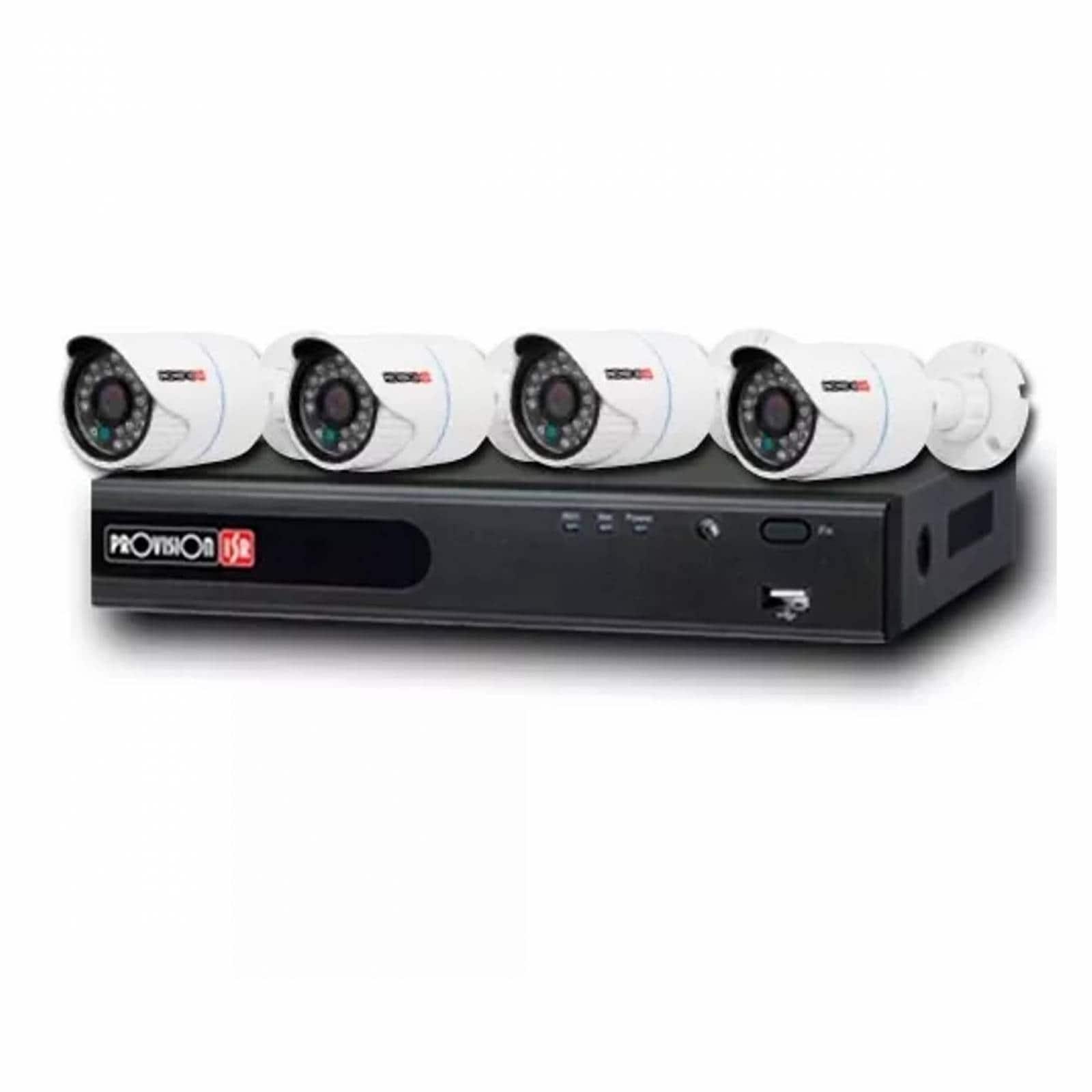 Provision Kit Vigilancia 8canales 4 Camaras + Cable Ahd84cva