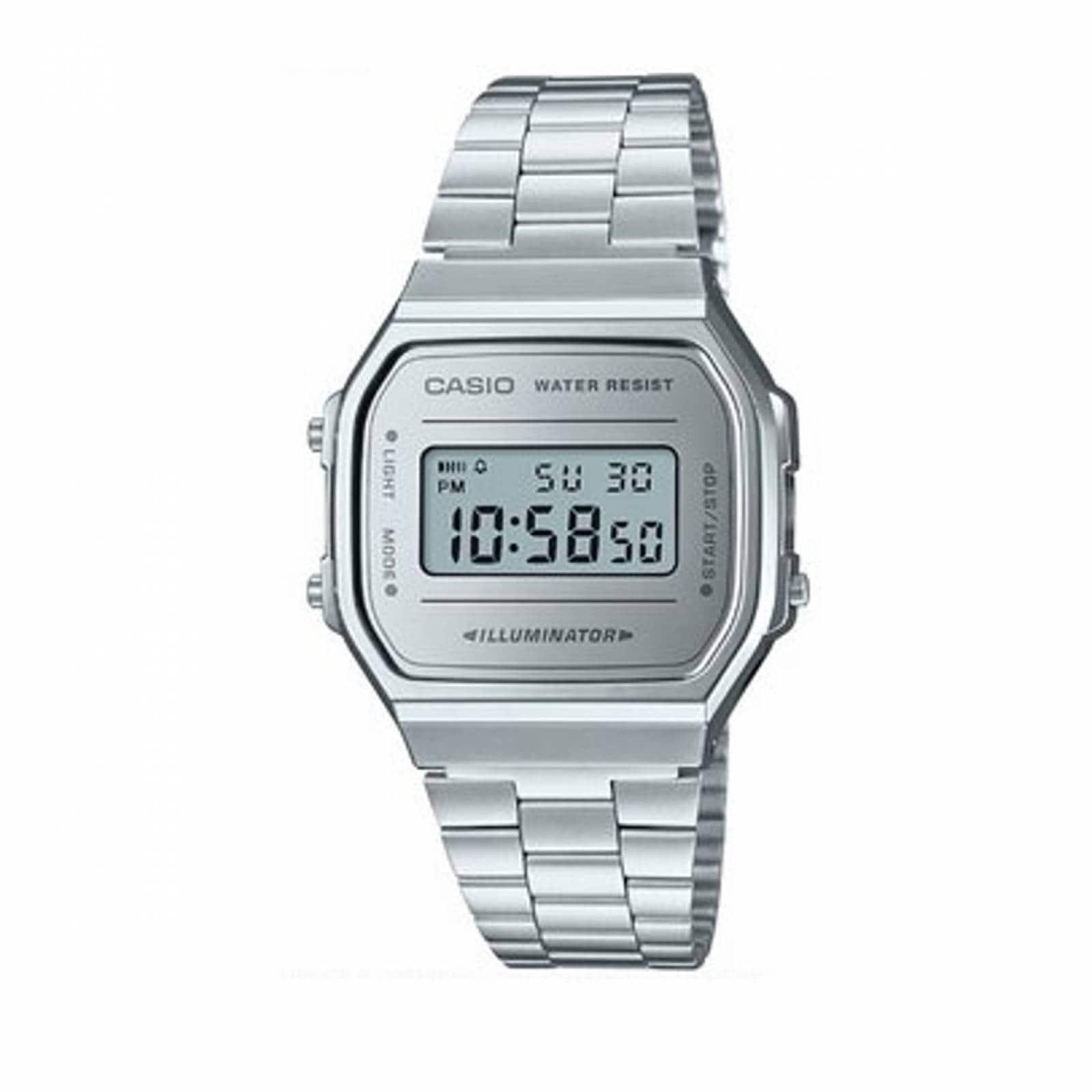 76f554bed6d7 Reloj casio retro vintage a168 plata espejo plata- 100% original cfmx