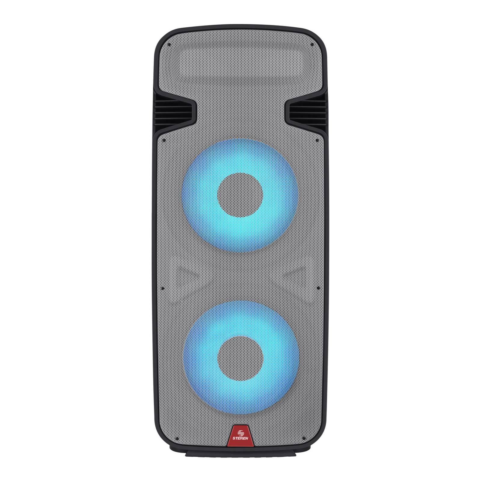 "Bafle profesional Bluetooth doble, de 15"" con luz LED, 6000 WPMPO"