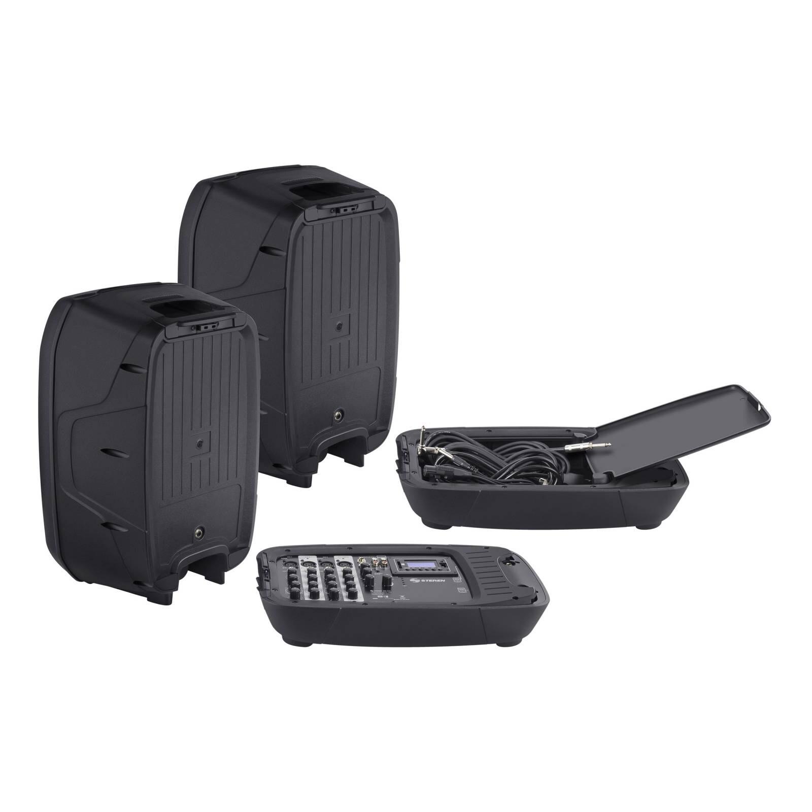 Sistema profesional portátil de publidifusión, con Bluetooth y reproductor MP3, 2800 WPMPO
