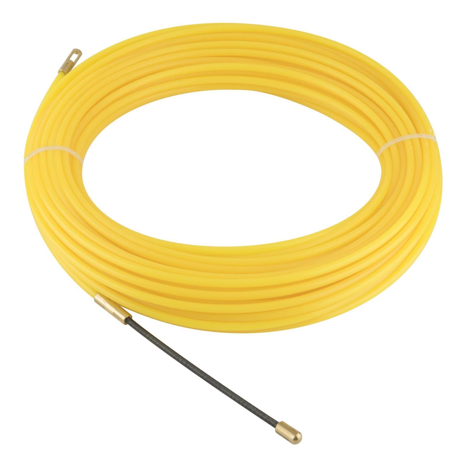 Guía de nylon para instalación de cable, de 20 metros