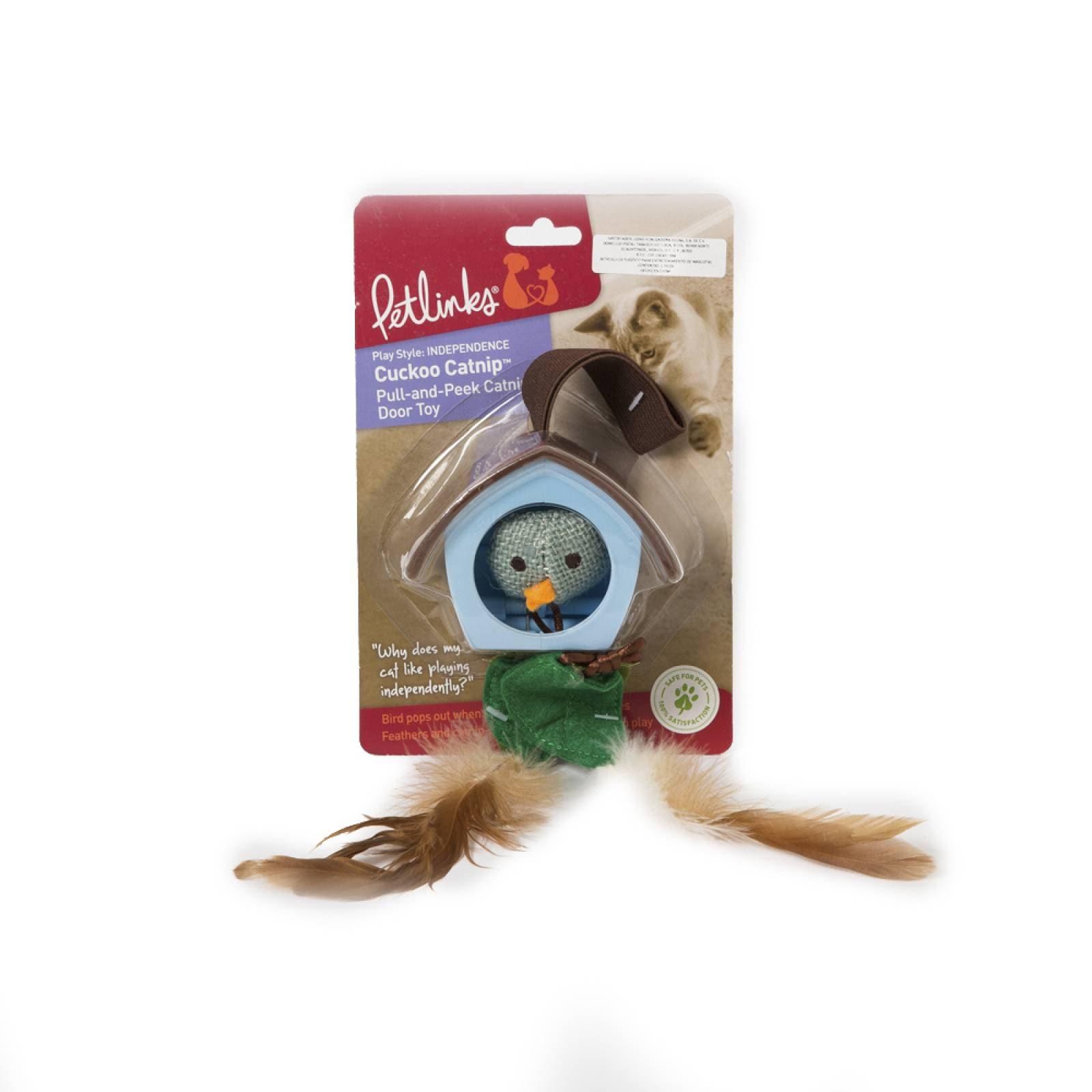 Juguete con plumas y catnip para gato Cuckoo Catnip