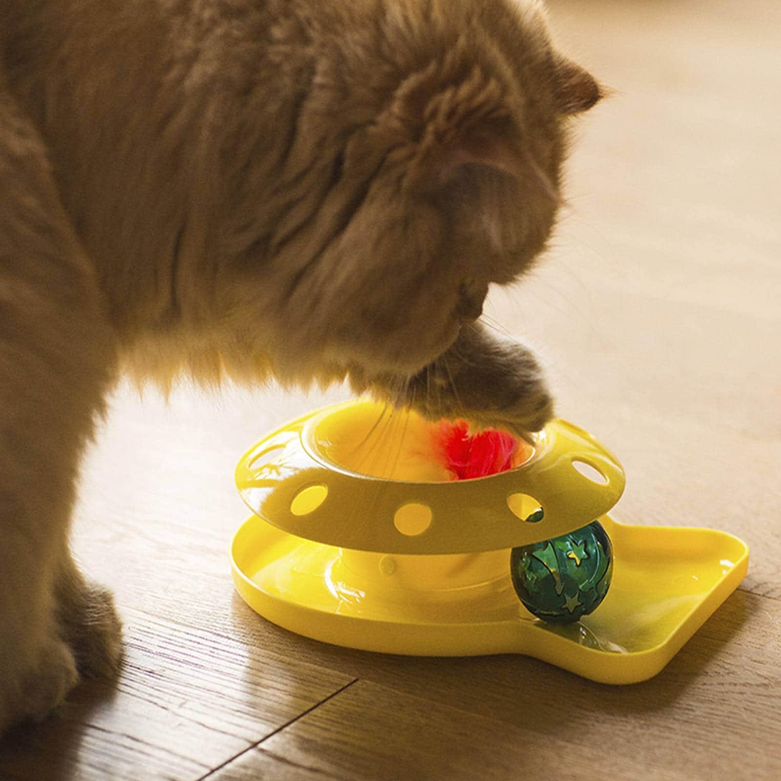 Juguete para gato con pelota Romp A Round