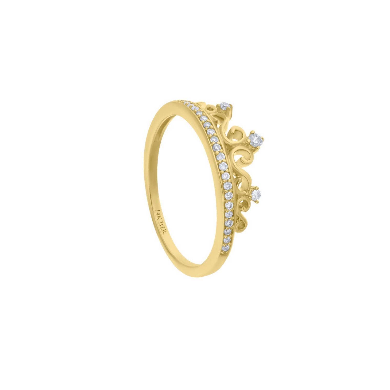 Anillo BIZZARRO de Oro Amarillo 14K con 15Pts de Diamante (H-I, I1)