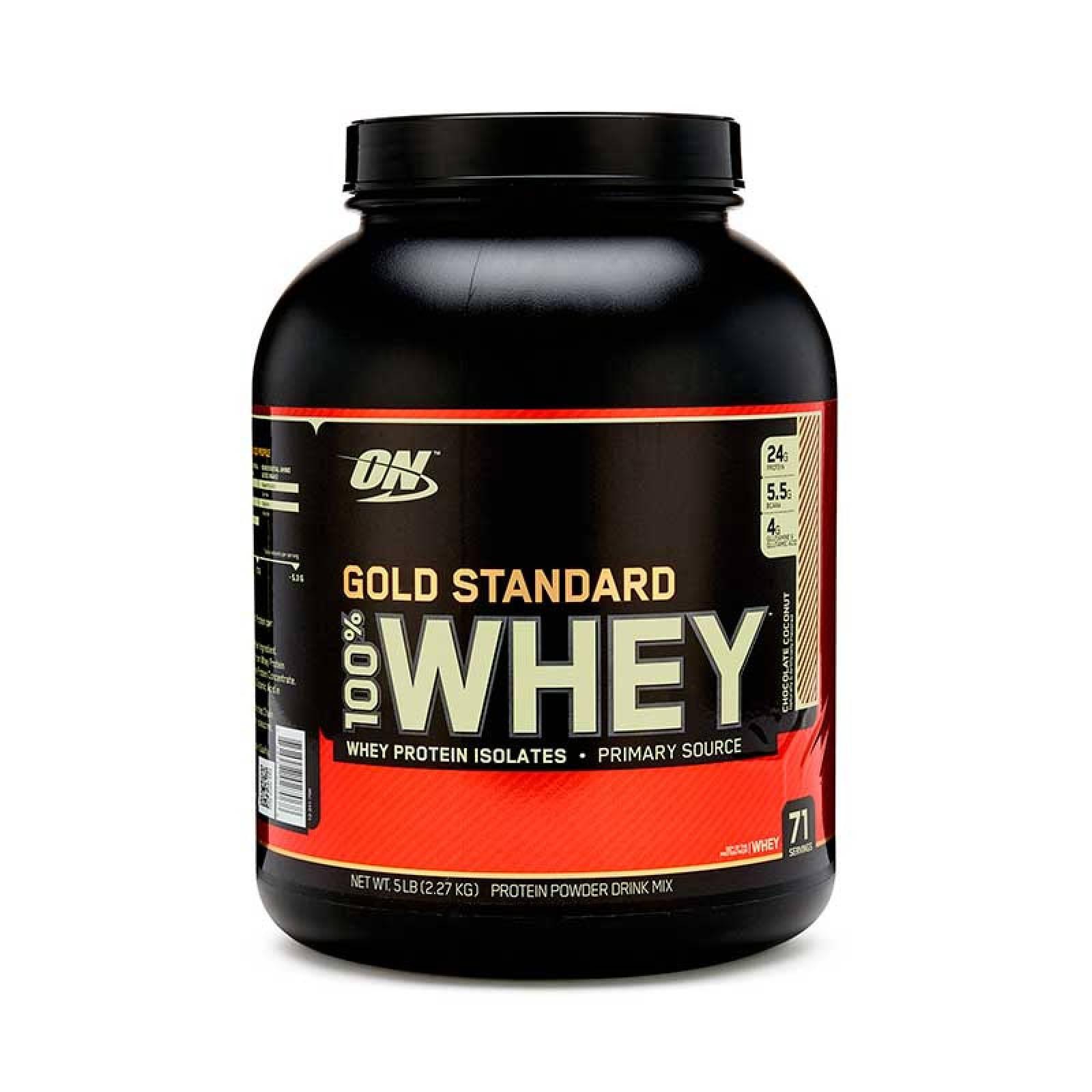 Proteina On Gold Standard Sabor Choco Coco 100% Whey 5 Lbs