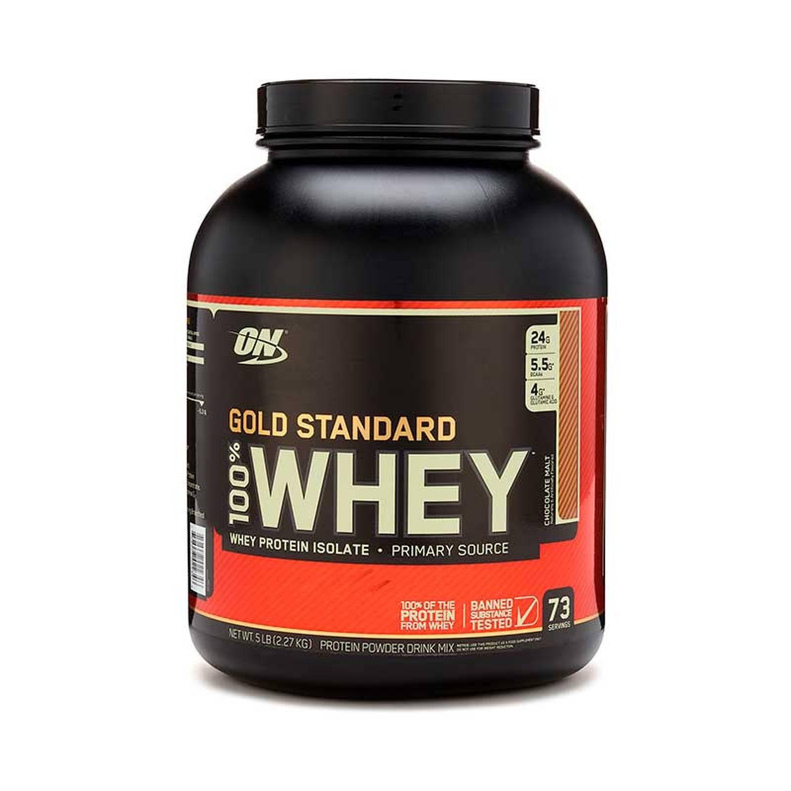 Proteina On Gold Standard Sabor Choco Malt 100% Whey 5 Lbs