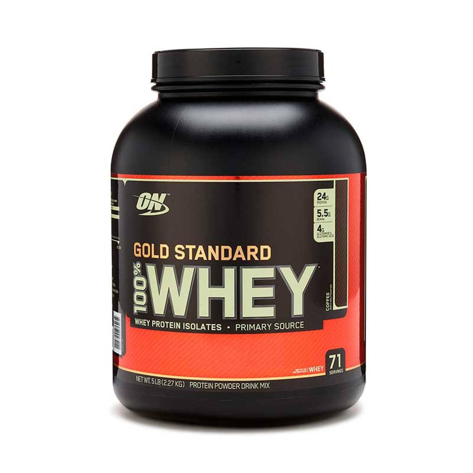 Proteina On Gold Standard Sabor Coffee 100% Whey 5 Lbs