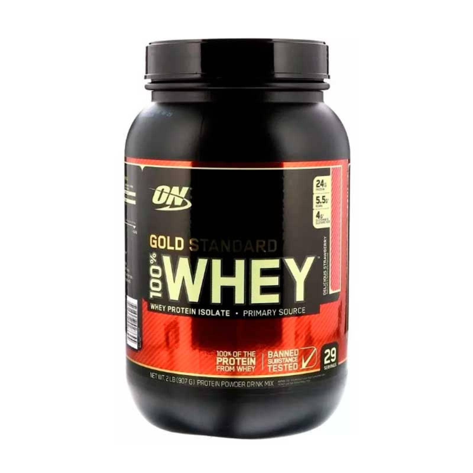 Proteina On Gold Standard 2lbs Fresa