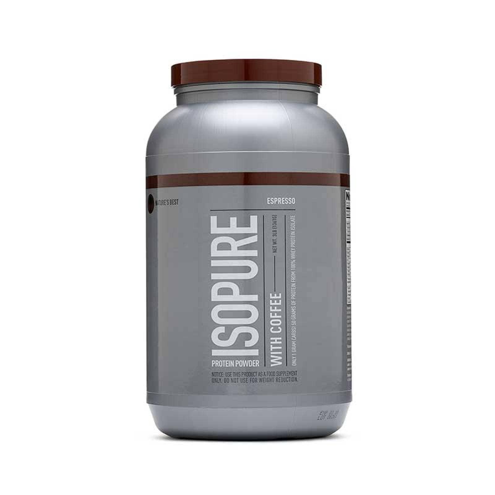 Proteina Isopure Zero Carb Sabor Cafe 3lbs