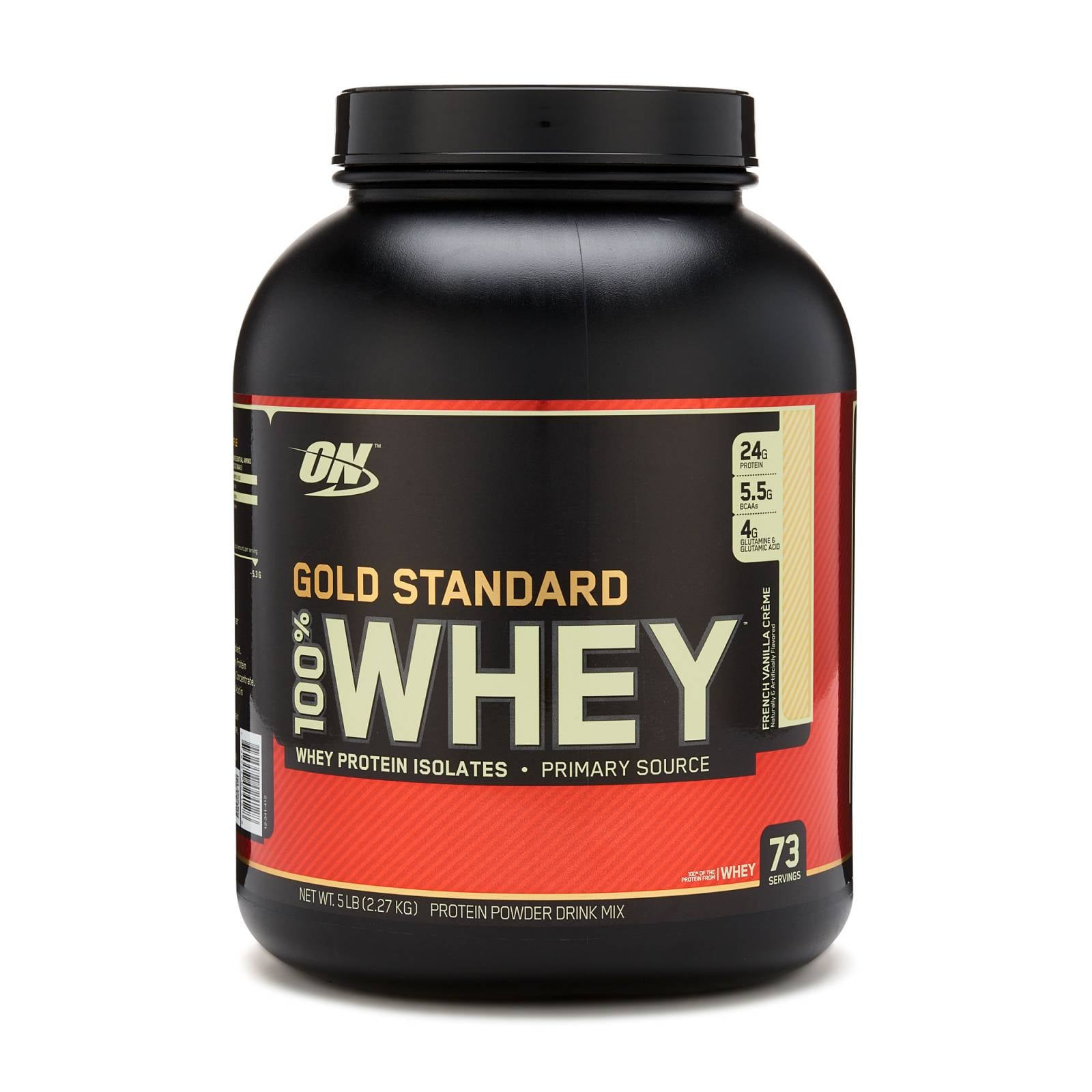 Proteina On Gold Standard Sabor Vainilla 100% Whey 5 Lbs