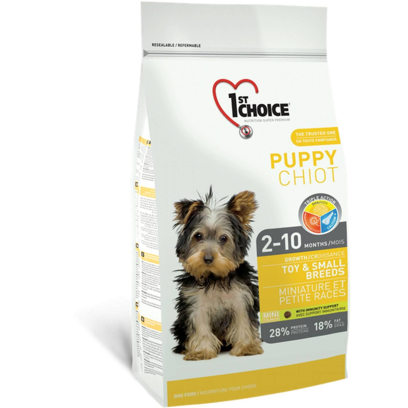 1ST Choice Alimento para Cachorro Mini y Raza Pequeñas Fórmula de pollo Edad: 2-10 meses 350 gr