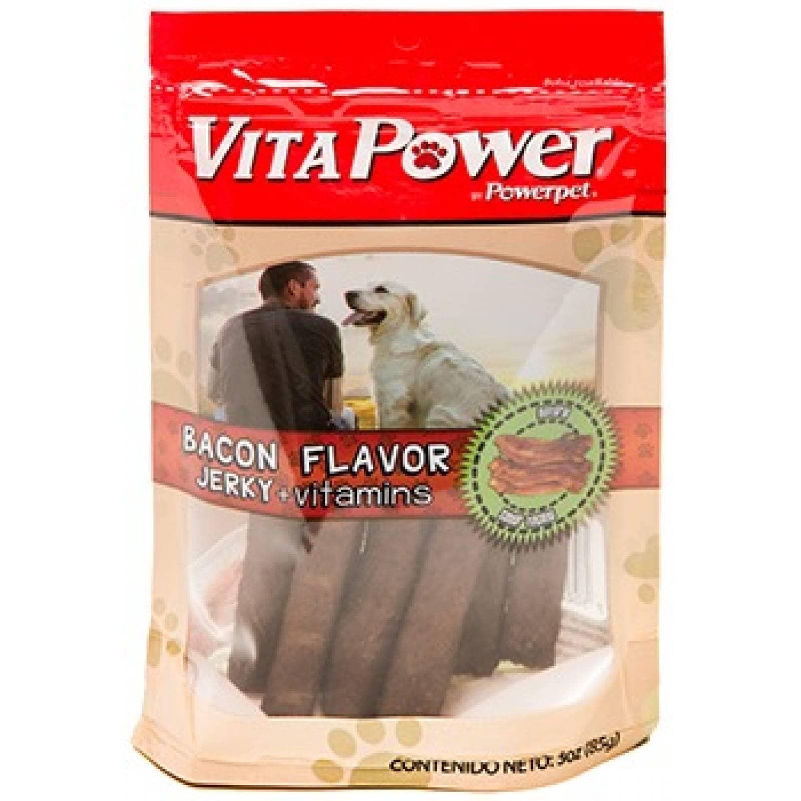 Powerpet Premios Vita power para Perro Sabor Tocino con Vitaminas 85 gr