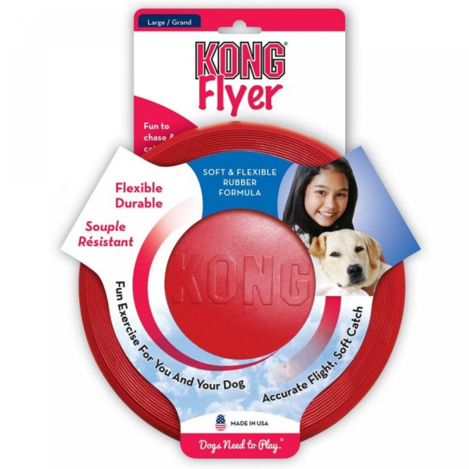 Kong Frisbee de Caucho Rojo para Perro Gde