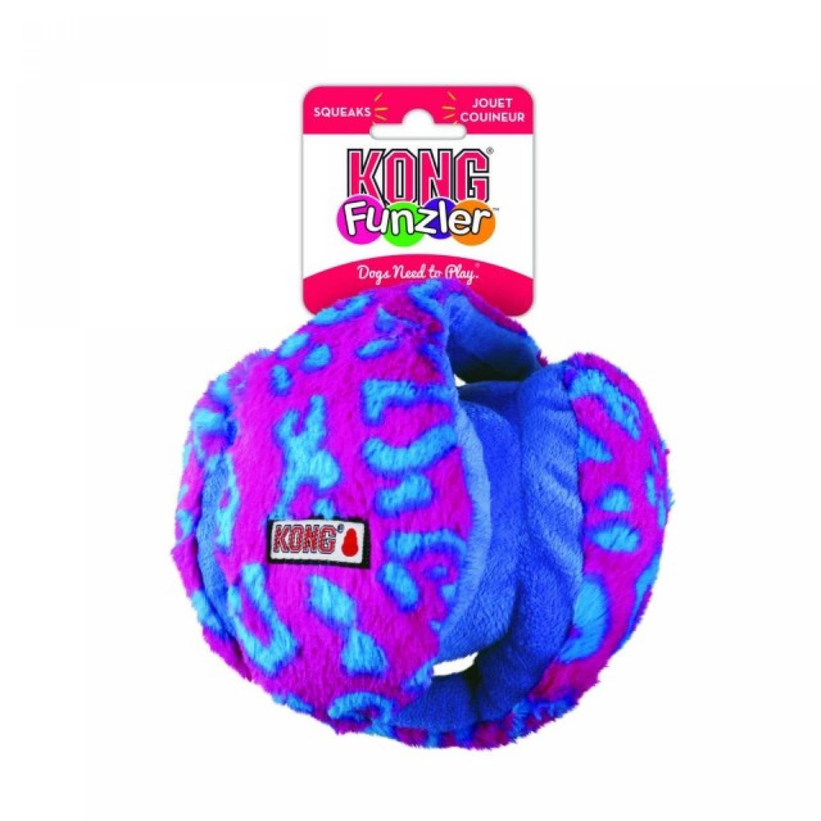 Kong Funzler Pelota para Perro Azul-Rosa Med