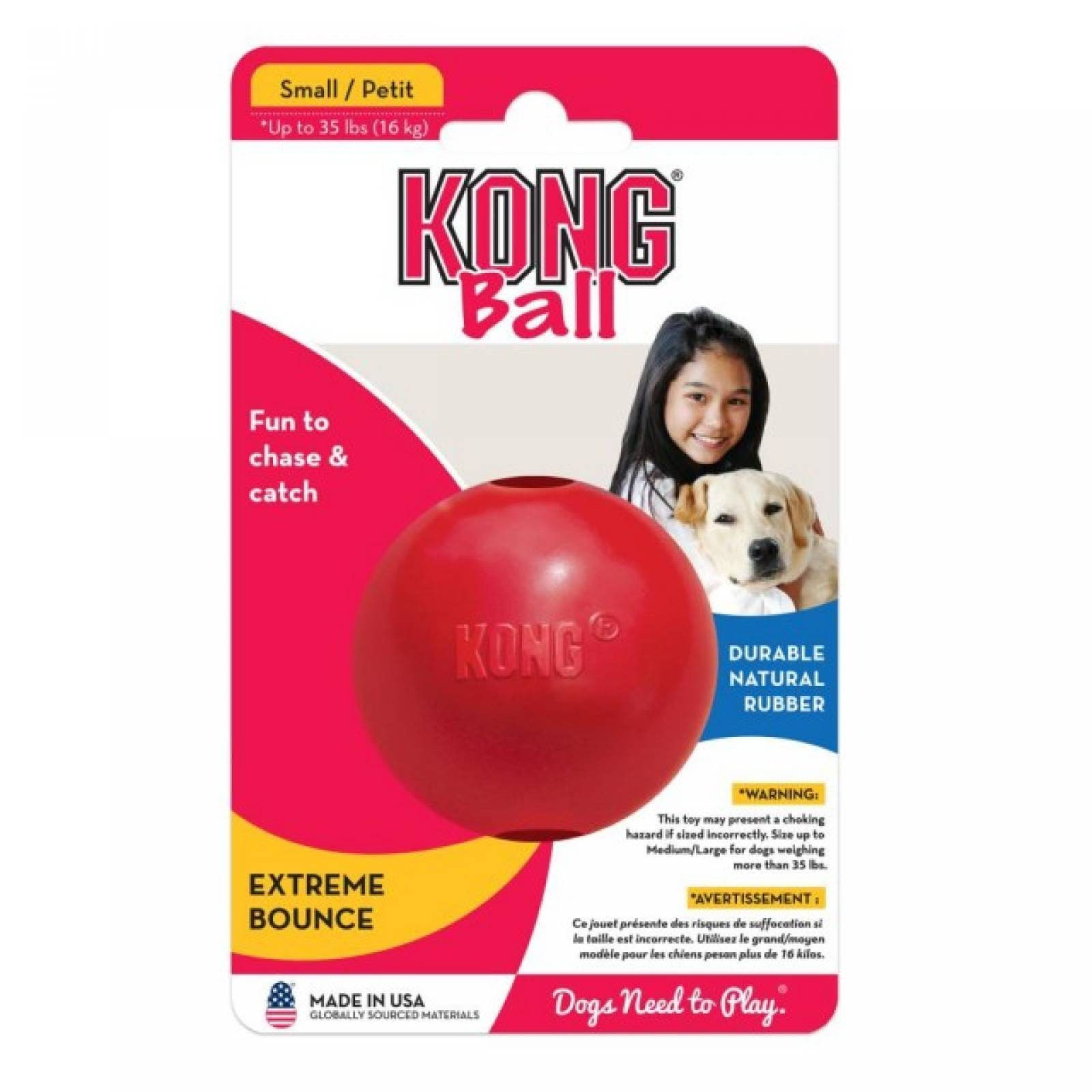 Kong Pelota para Perro interactiva dispensadora de Premios Ch
