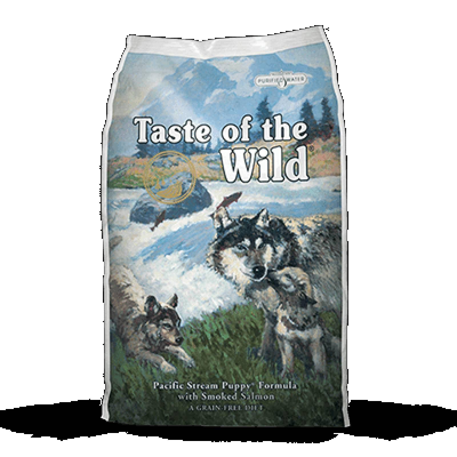 Taste of the wild Alimento para Cachorro Pacific Stream de Salmon Ahumado 27/15 13.61 kg