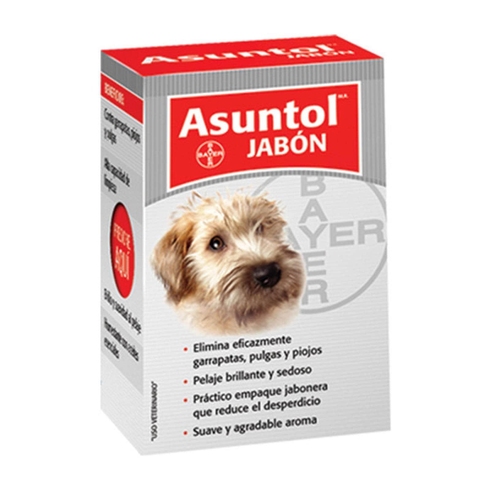 ASUNTOL Jabón Antipulgas para Perro barra de 100gr