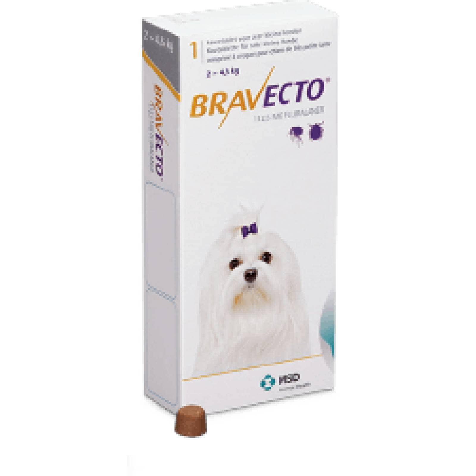 Bravecto Desparacitante para Perro Raza Mini de 2-4.5 kg 1 comp de 112.5 mg