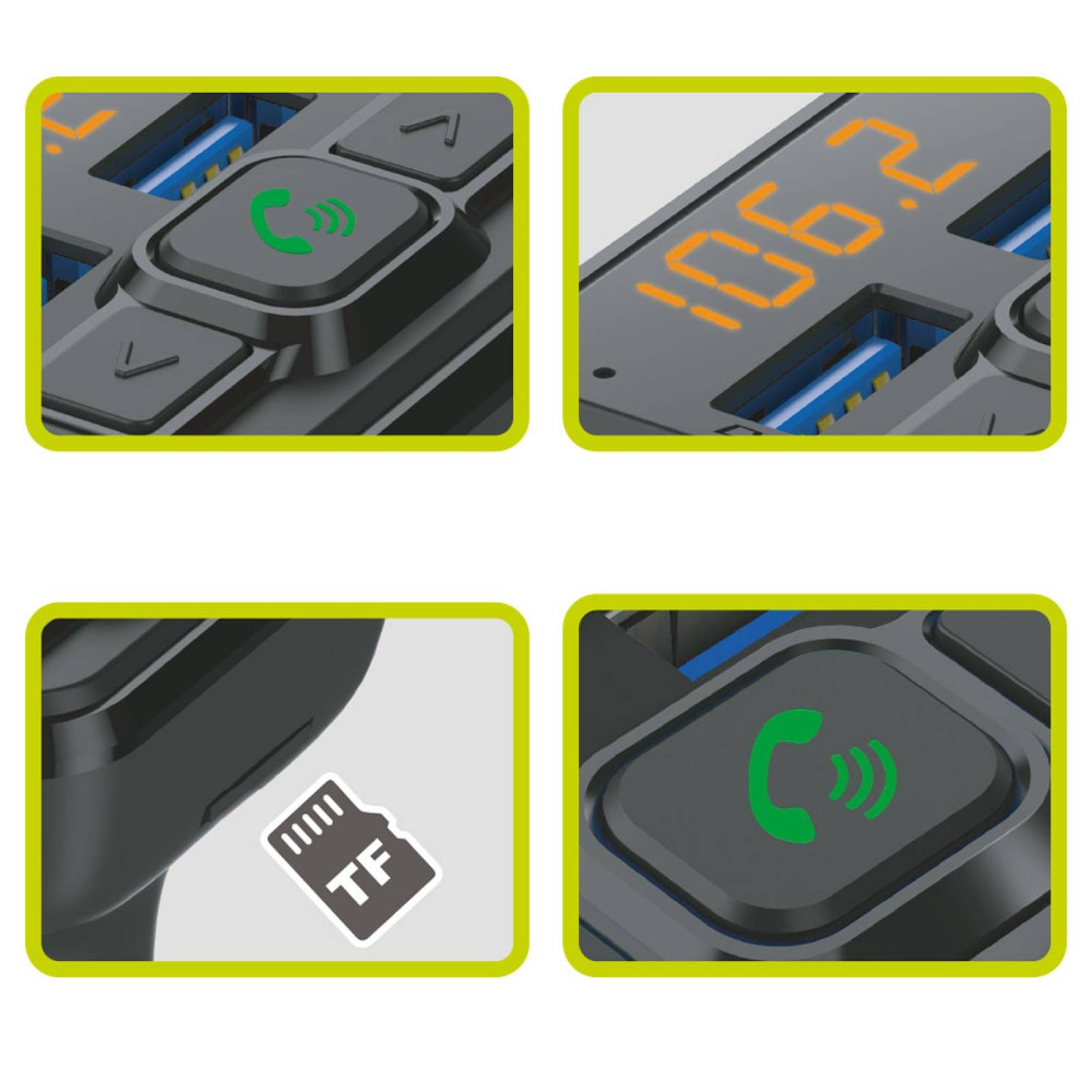 Transmisor Bluetooth Kit Manos Libres cargador Usb HF-BT80