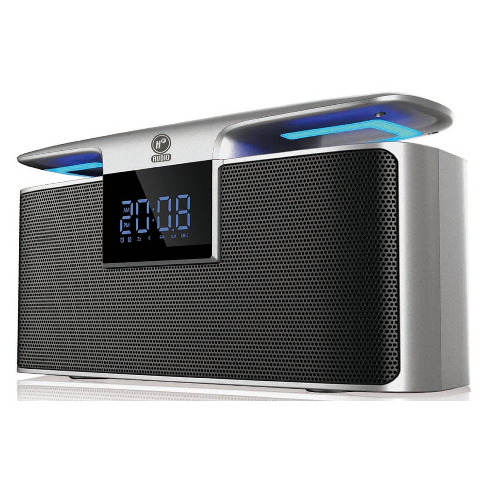 Bocina Bluetooth Con Reloj Despertador Mp3 Usb Sd Hf-clock50