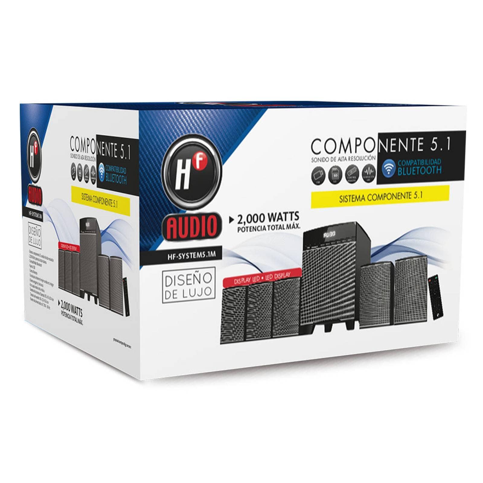Componente Bluetooth 5 Bocinas Hf-system5.1m 2000 Watts Usb