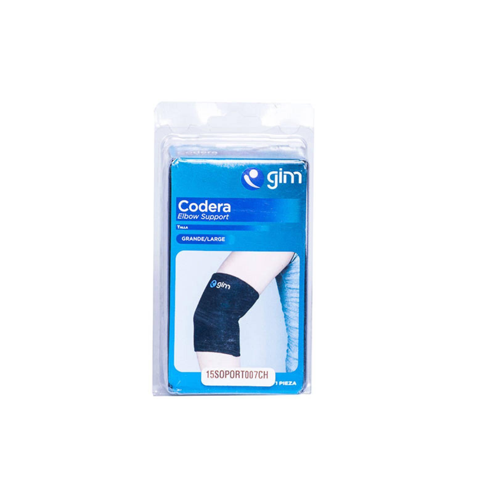 Codera Elastica Grande Velcro Nylon Neopreno Negro Gimbel