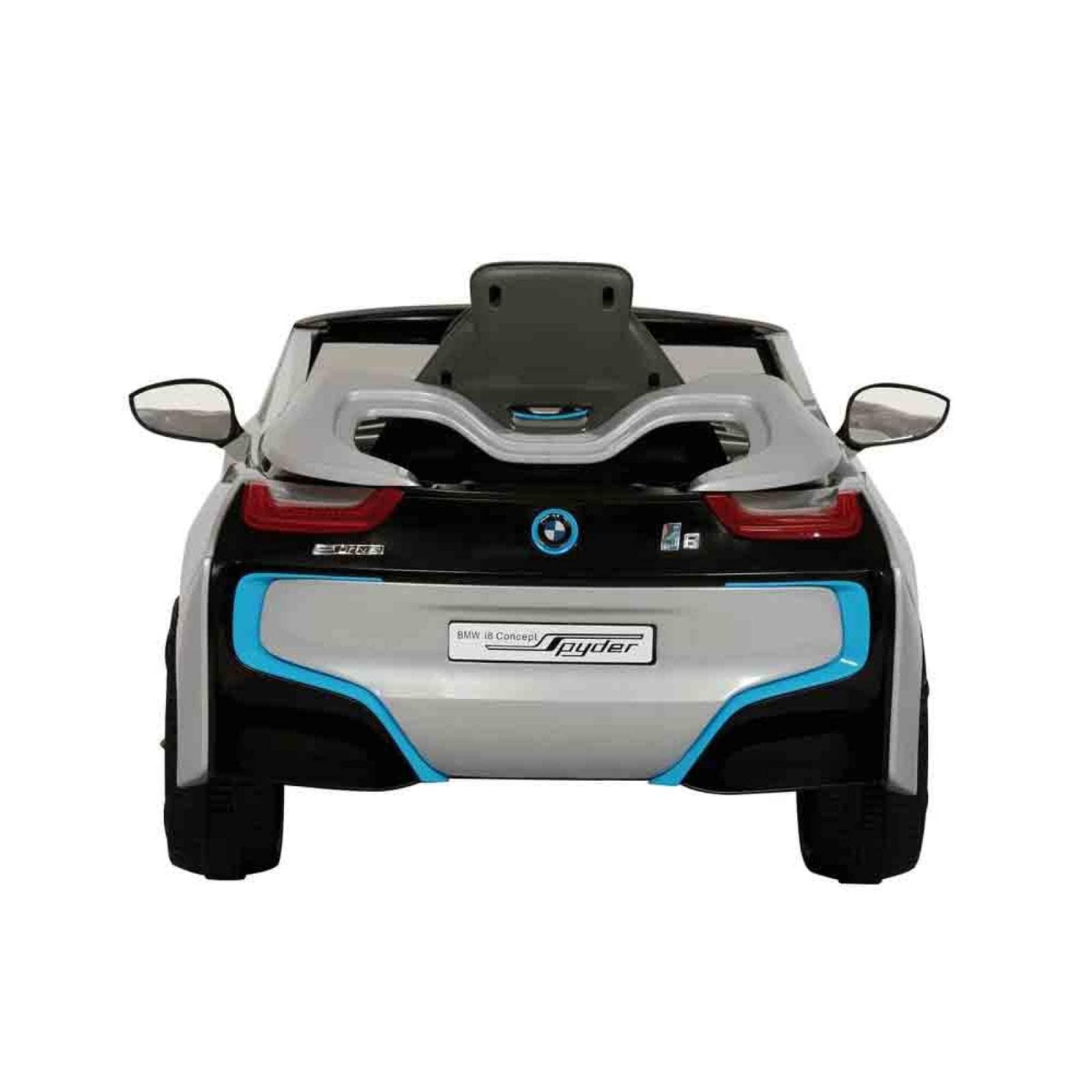 Auto Electrico Bmw I8 Niño Fm Mp3 15Mts Alcance Plata Prinsel