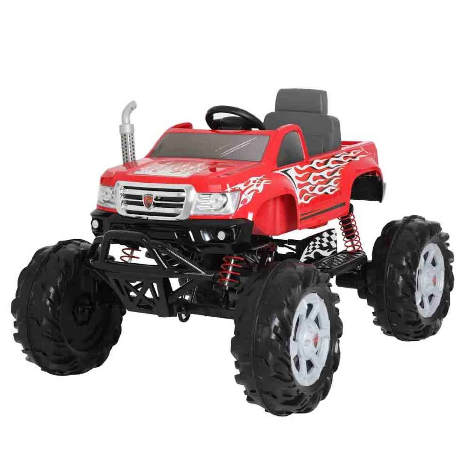 Camioneta Electrica Monster Truck Niño Juguete 20V Rojo Prinsel