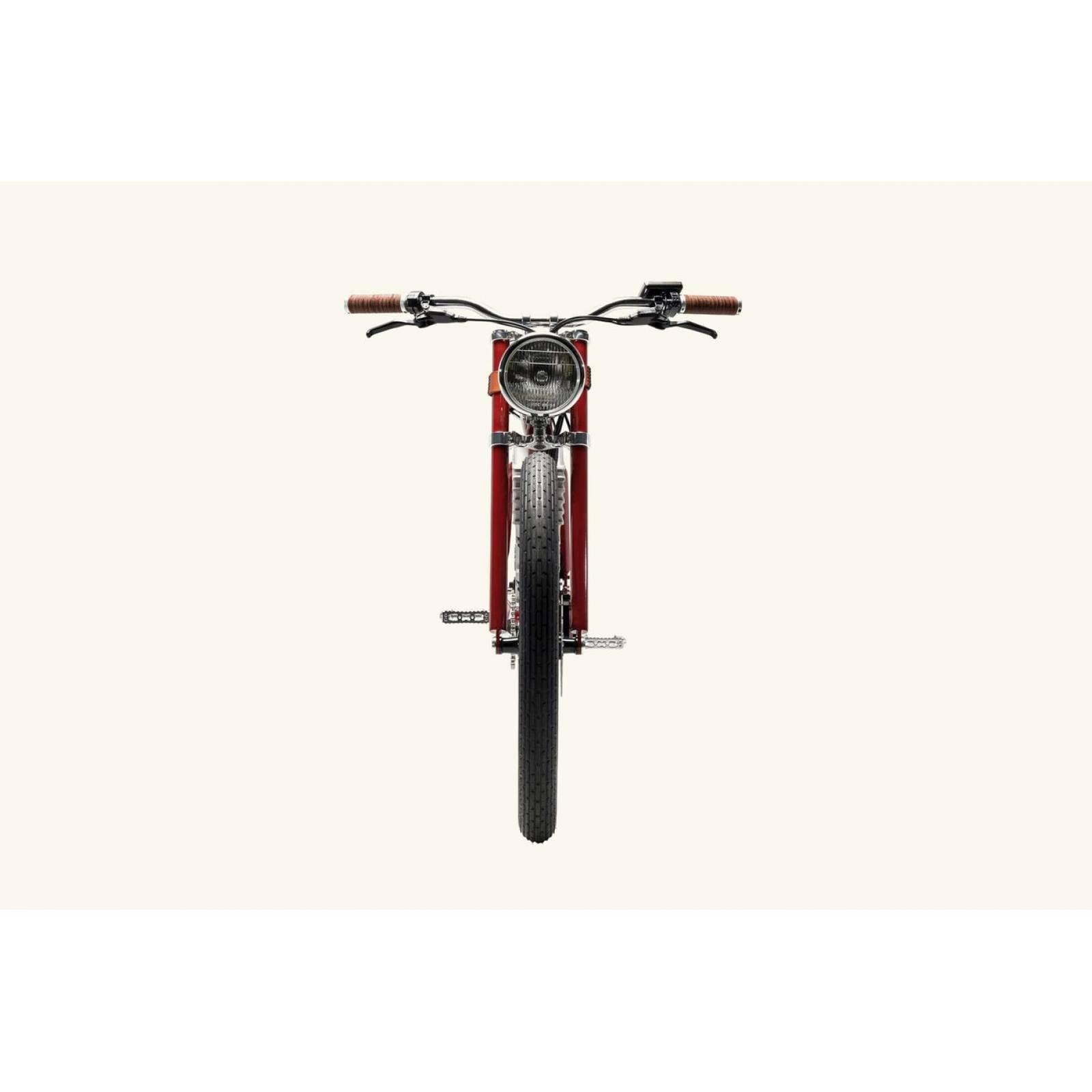 Bicicleta Electrica Recargable Traker 2019 R-26 Roja Vintage Electric Bikes