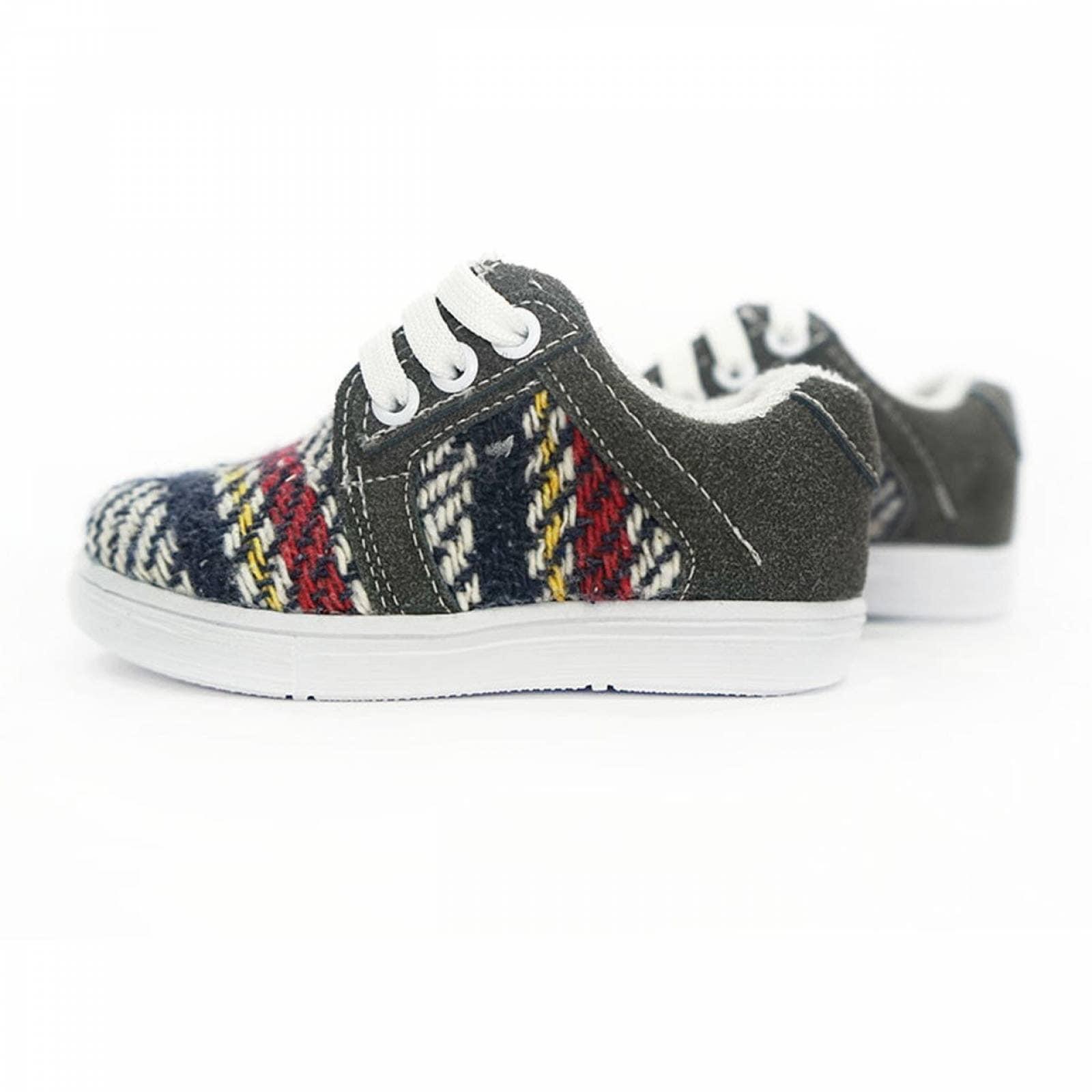 Tenis Zapato Casual Mini Simon Artesanal Infantil Gris Komoni Talla: 14