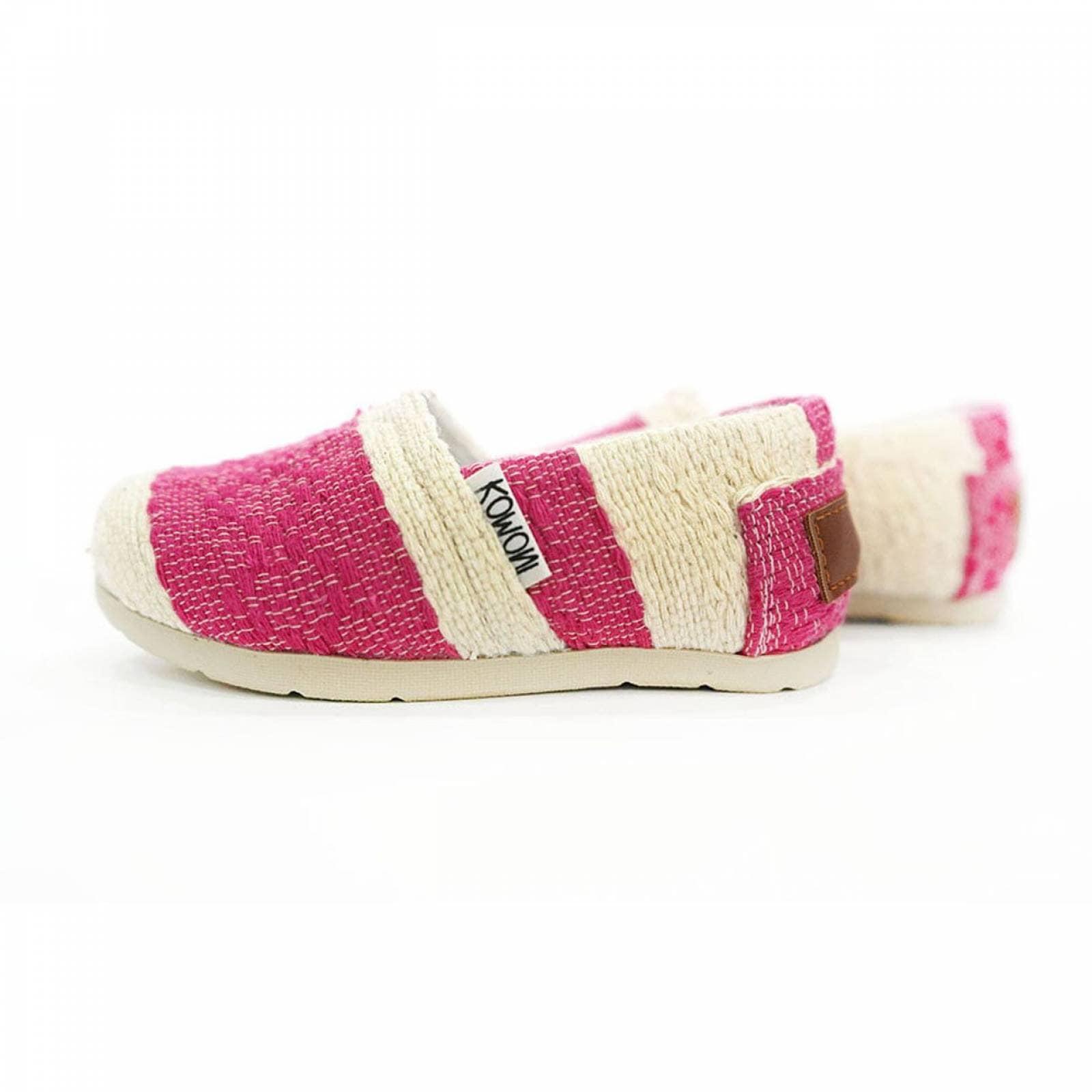Zapato Alpargata Mini Jacinta Artesanal Tela Infantil Rosa Komoni Talla: 15