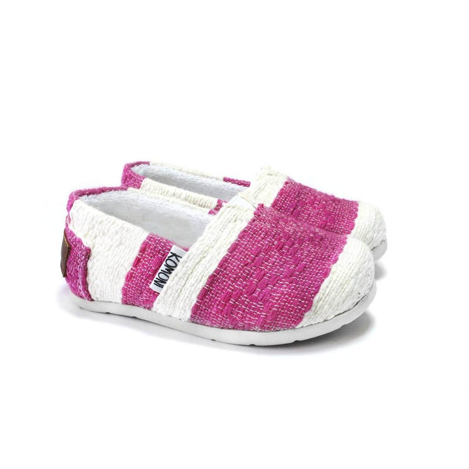 Zapato Alpargata Mini Jacinta Artesanal Tela Infantil Rosa Komoni Talla: 17