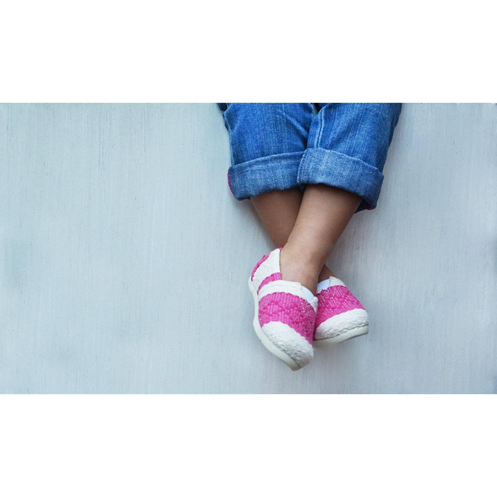 Zapato Alpargata Mini Jacinta Artesanal Tela Infantil Rosa Komoni Talla: 21