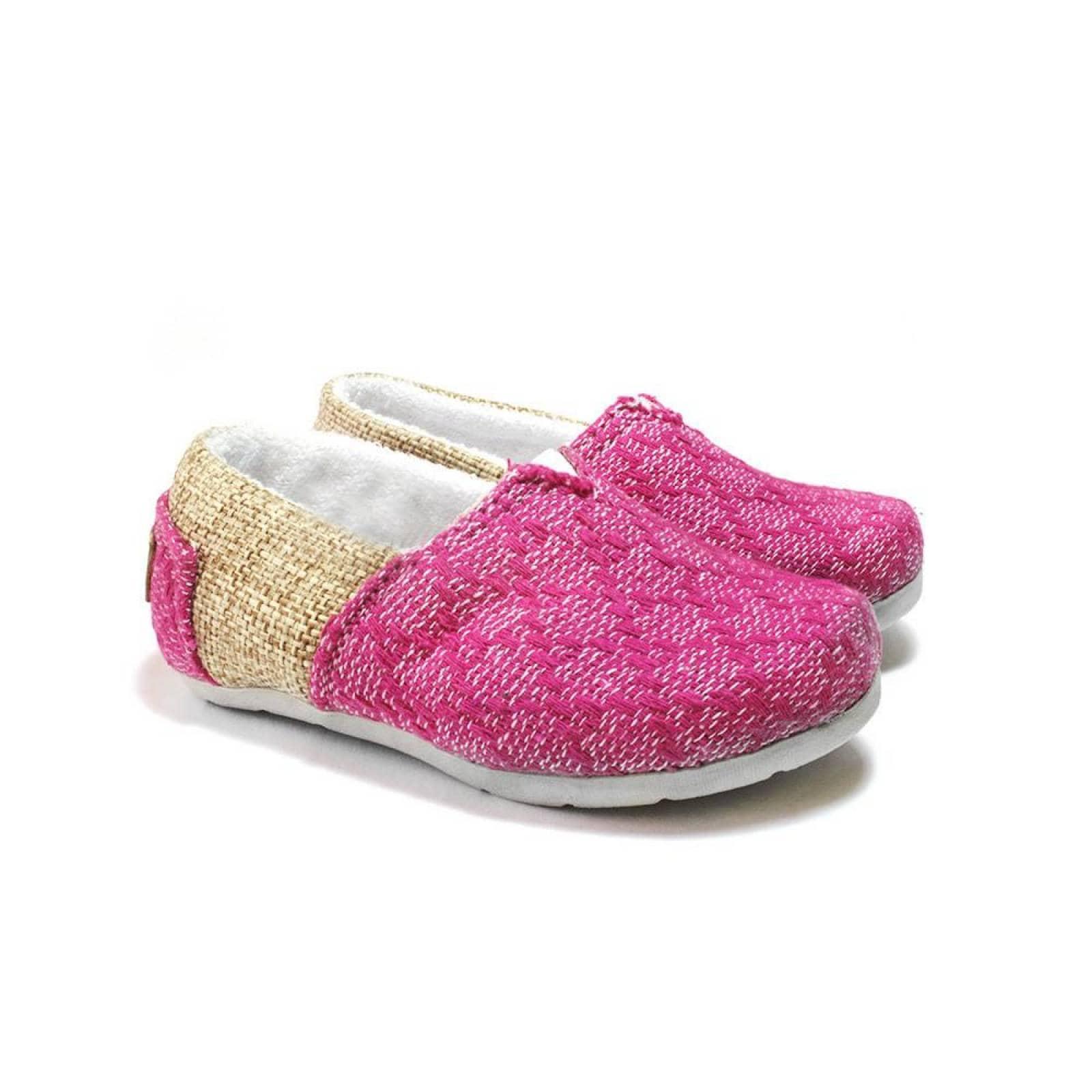 Zapato Alpargata Mini Jacinta Artesanal Tela Infantil Coral Komoni Talla: 12