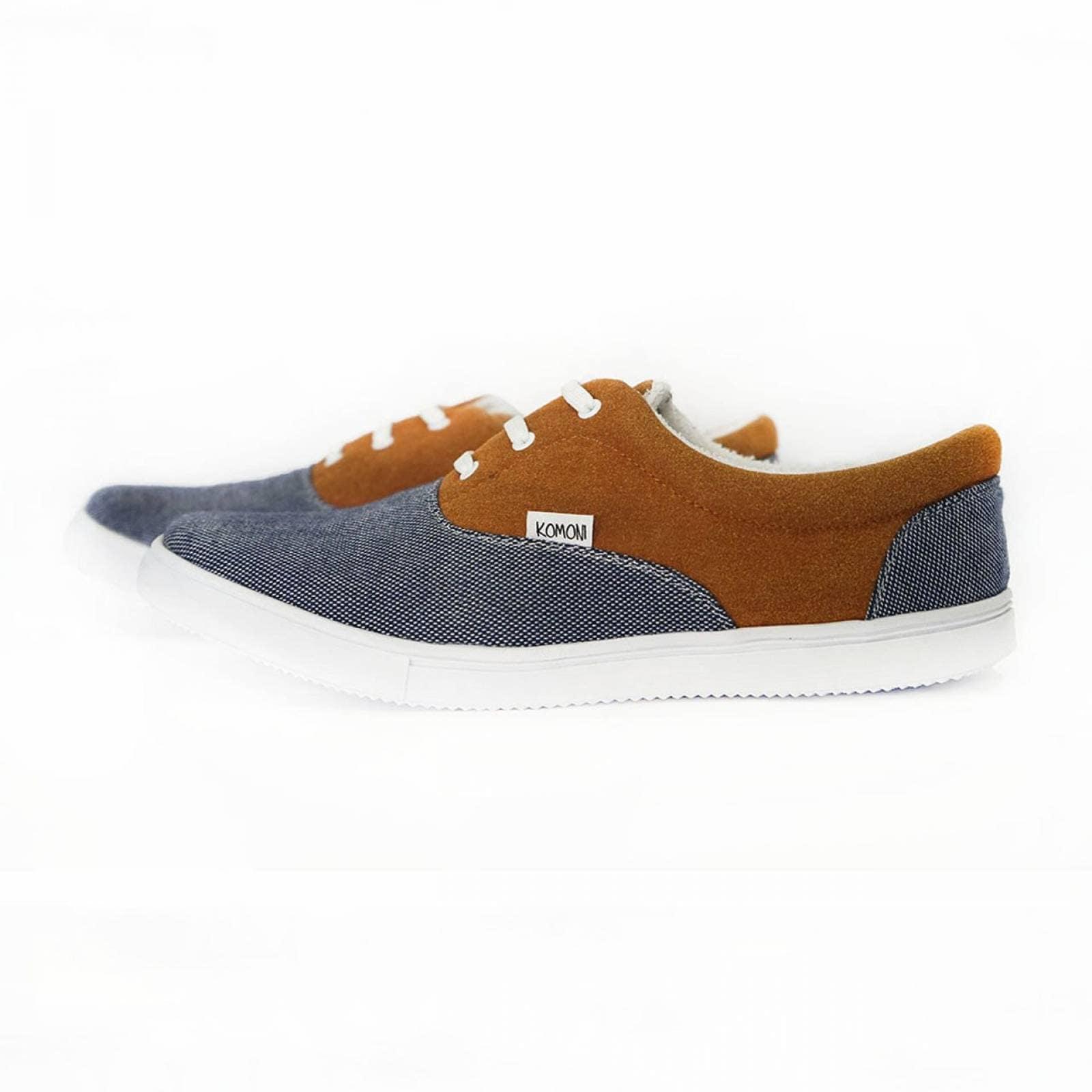 Tenis Zapato Casual Artesanal Tela Hombre Rufino Azul Komoni Talla: 29